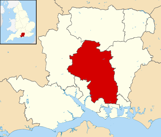 Map showing location of Winchester, UK